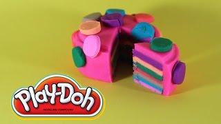 Как сделать ТОРТ Радуга из Плей До How to make Play Doh Rainbow Cake
