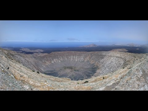 Caldera Blanca, the largest volcano crater on Lanzarote
