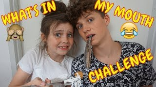 WHAT'S IN MY MOUTH CHALLENGE MET HUGO - Bibi