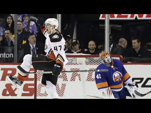 Gotta See It: Lindholm caps hat trick with OT winner against Islanders