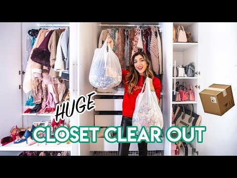 SPRING CLEANING MY WARDROBE & SELLING MY CLOSET! | Amelia Liana