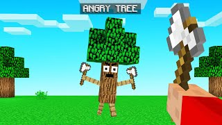TREES ATTACK YOU When You CHOP THEM! (Minecraft)