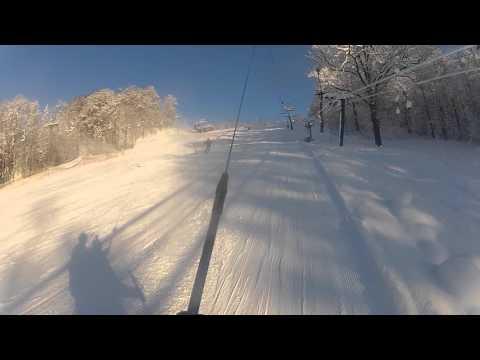 Skiing in Sigulda, Latvia