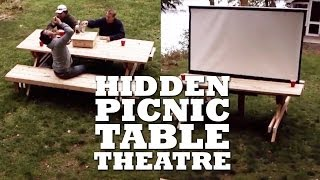 Diy Hidden Picnic Table Theatre