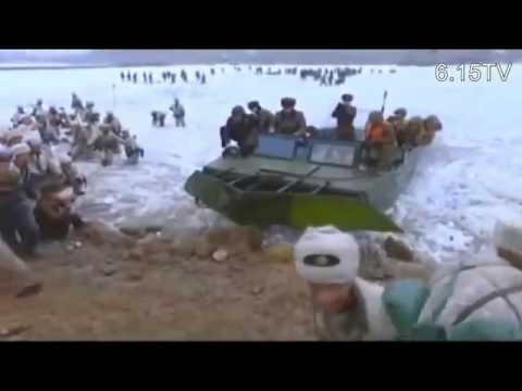North Korean Army Winter River Crossing Attack Exercises, Kim Jong Un Guides
