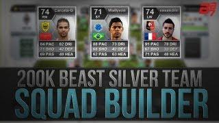 200K BEAST SILVER HYBRID SQUAD BUILDER w/ Wallyson | FIFA 13 Ultimate Team