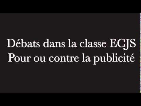 Débats sur la publicité - ECJS