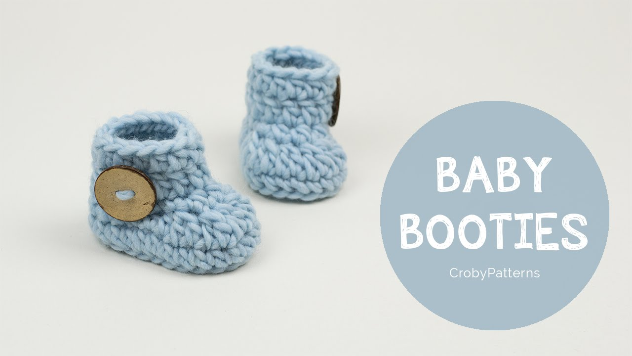 How To Crochet Fast And Easy Crochet Baby Booties Croby Patterns
