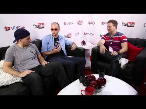 Epic Rap Battles of History (Nice Peter & Epic Lloyd) Backstage at VidCon 2013 with SourceFed!