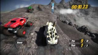 PS3 MotorStorm PacificRift Caldera Ridge Race Crashs
