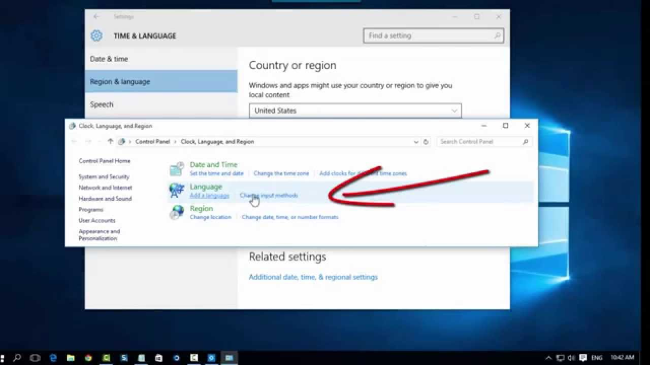 b7612495769 Windows 10 How to change layout keyboard - YouTube