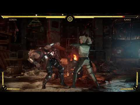 Sonya Blade vs Kano MK11