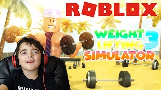 ROBLOX 5 Year Old WINS Brawl - Weight Lift Simulator 3