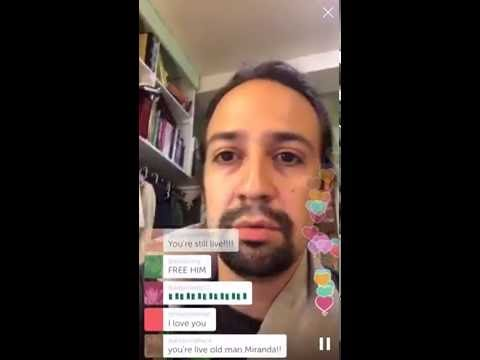 Lin-Manuel Periscope Debut - part 1 ( here Part 2 https://youtu.be/t7qu882n7z4 )