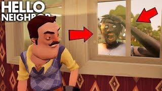 Granny Helps Us SNEAK INTO THE NEIGHBOR'S HOUSE!!! | Granny + Hello Neighbor Gameplay