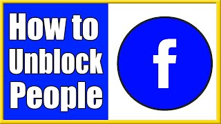 How to Unblock someone on Facebook & be friends again! (Easy Method!)
