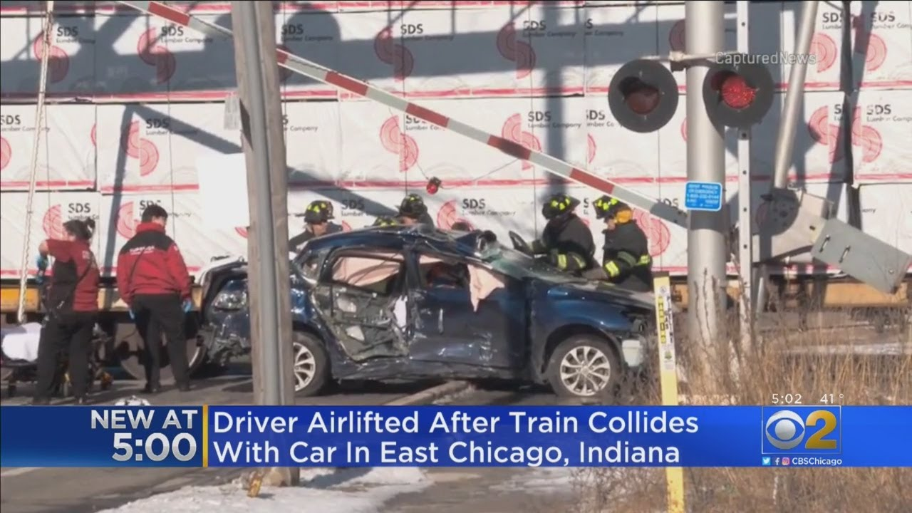 Train Hits Car In East Chicago, Ind.
