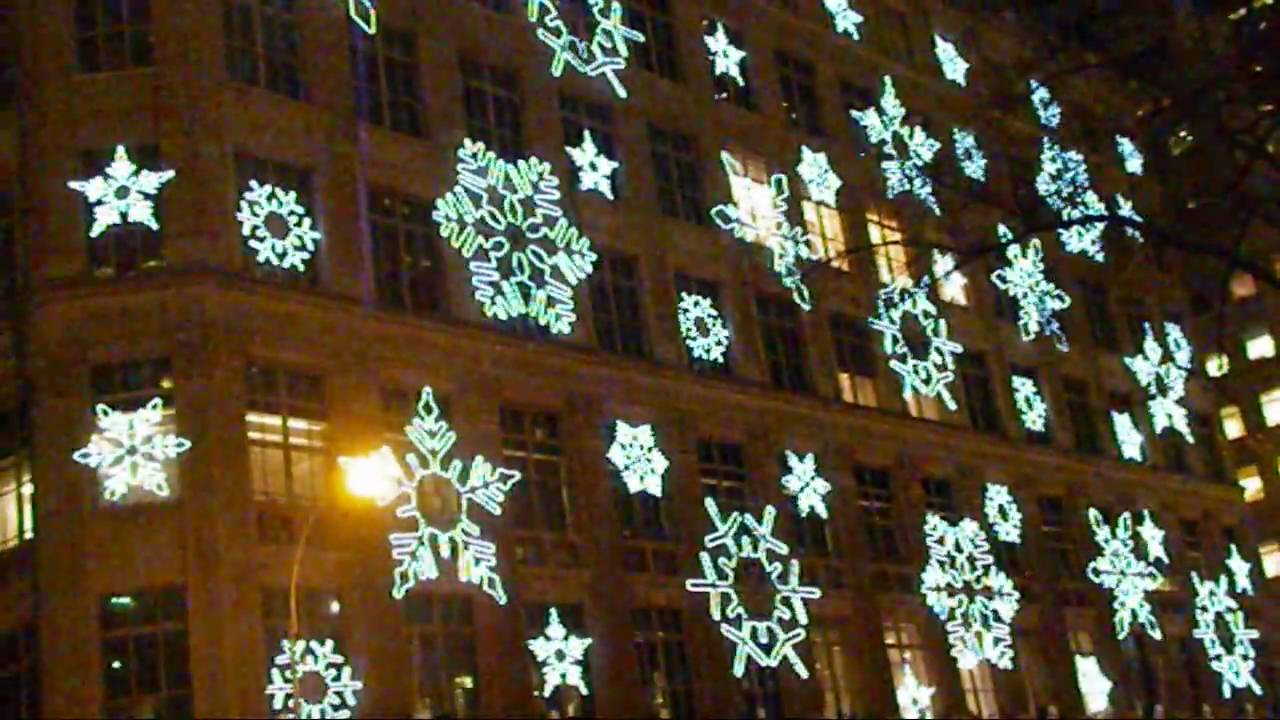 saks fifth avenue snowflakes christmas light show 2009 youtube