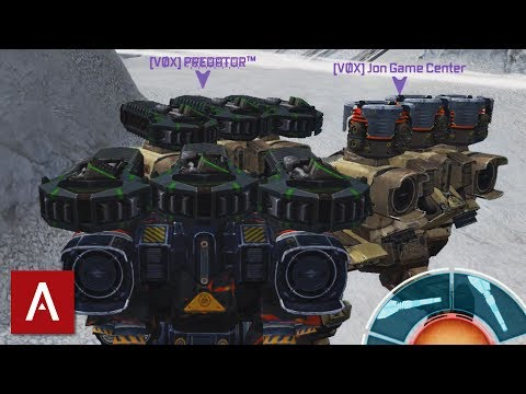 War Robots Gameplay: Fury Thunder Teamwork with Fury Triple Ancile