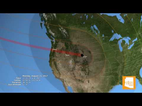 'Great American Eclipse' Path Across The United States