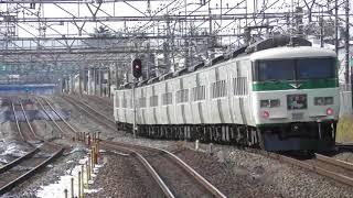 特急踊り子131号伊豆急下田行き185系A7編成 JR常磐線南柏駅通過