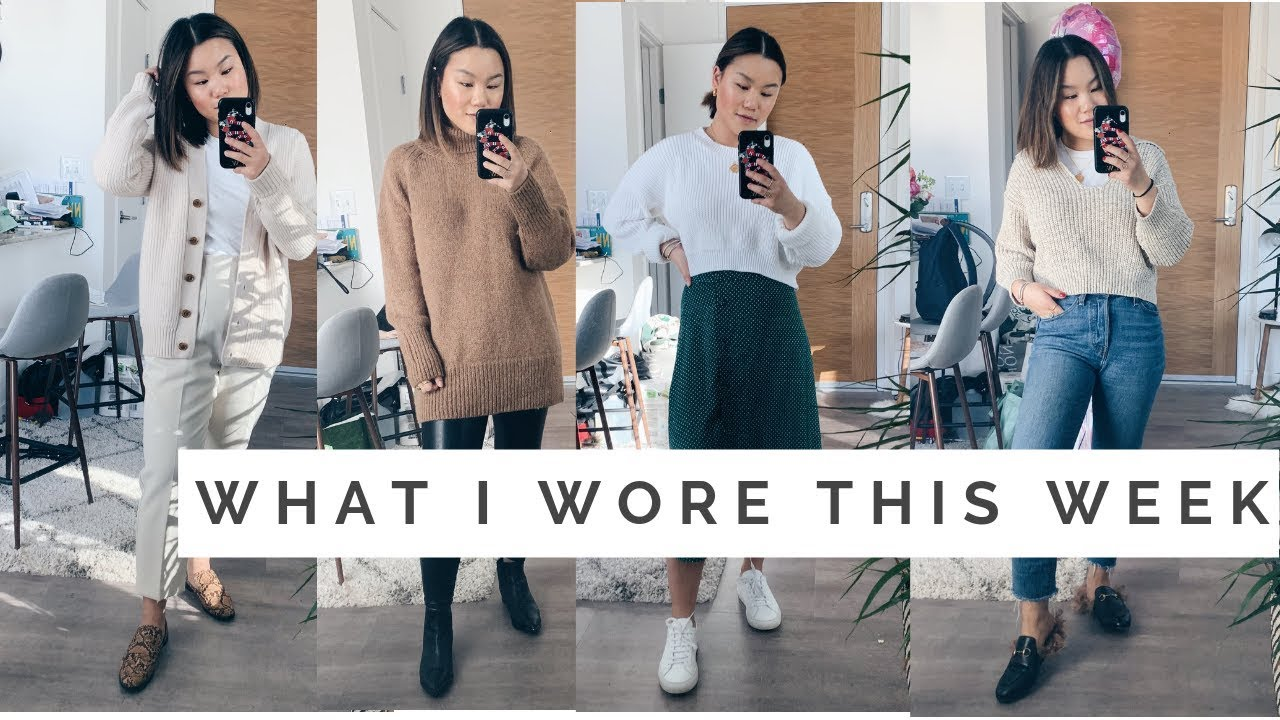 WHAT I WORE THIS WEEK    Spring Transition Outfits