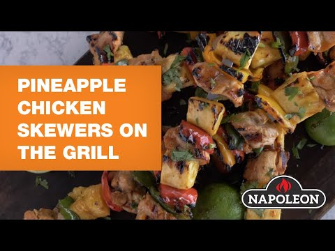 Pineapple Chicken Skewers On The Grill