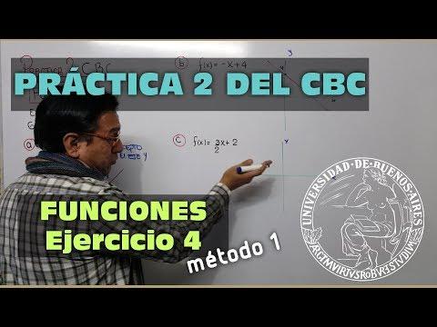 FUNCIONES - PRACTICA 2 DEL CBC - EJERCICIO 4 PRIMER MÉTODO