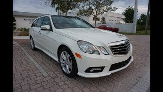 This 2011 Mercedes Benz E350 4Matic Estate Station Wagon is an elegant and practical SUV killer