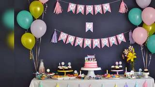 How to make homemade decorations for a birthday party Cheap