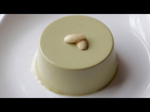 Almond Matcha pudding(No music version)--Cooking A dream