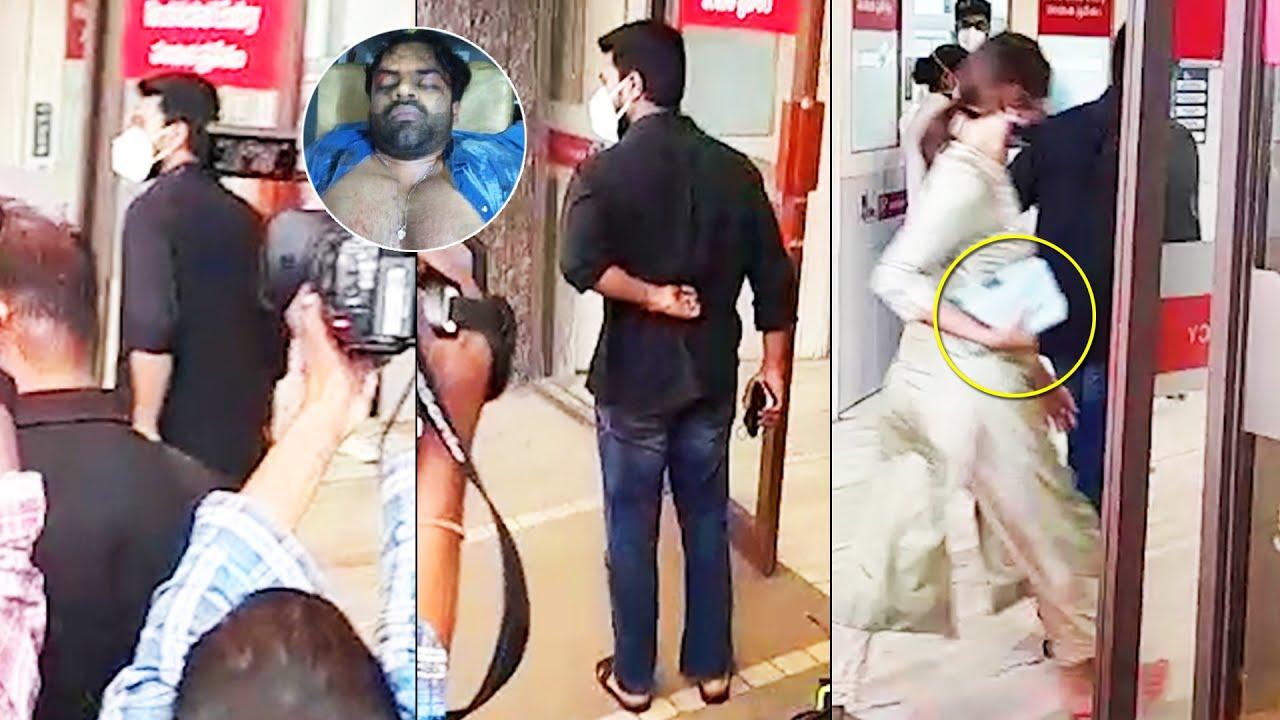 Ram Charan And Upasana Visits Apollo Hospital   Sai Dharam Tej Health Condition   News Buzz - YouTube