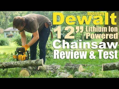 Should you buy a Battery Powered Chainsaw? Dewalt 12 inch DC