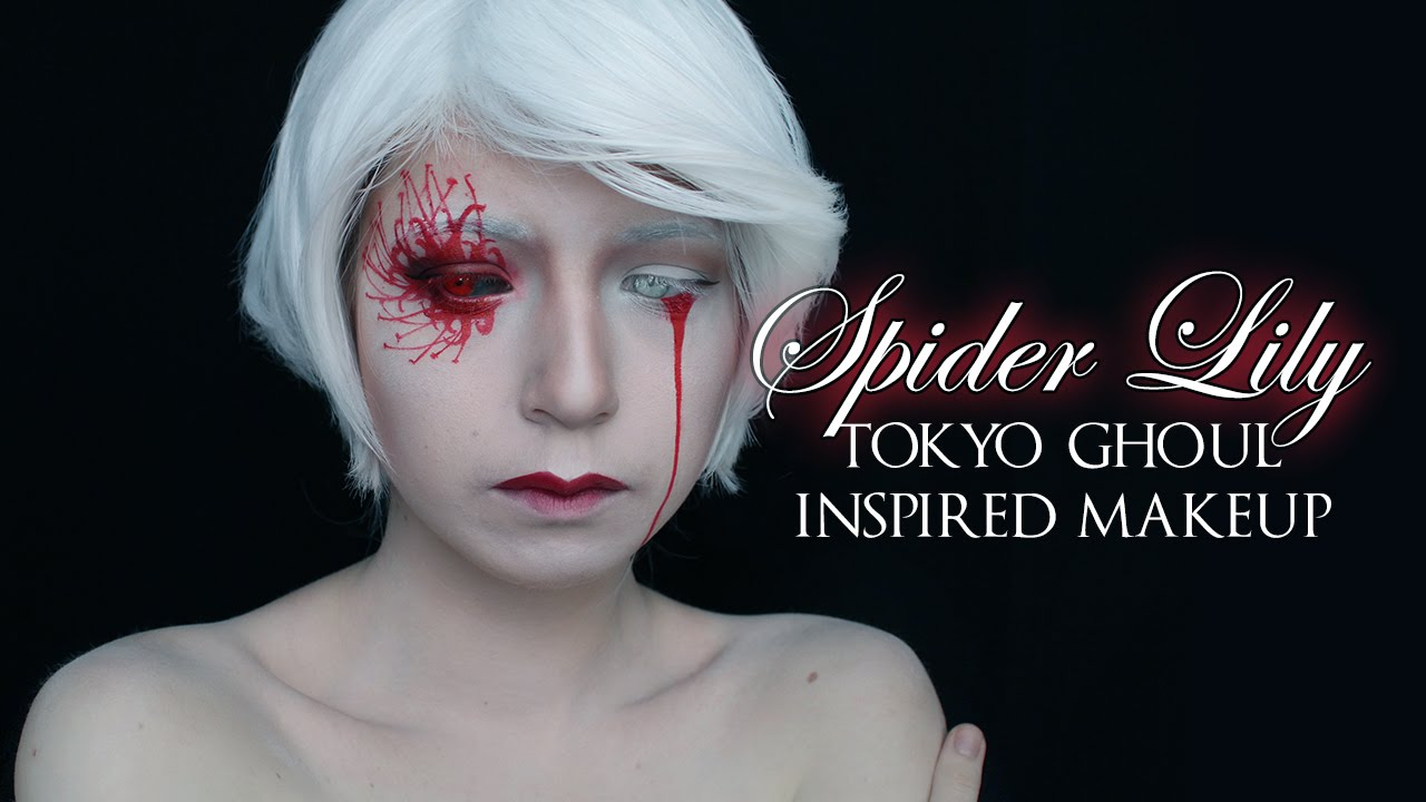 Spider Lily Tokyo Ghoul Inspired Makeup Tutorial Youtube