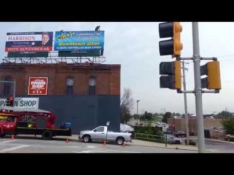 Macs Downtown Alton Il Billboard Installation by Arrow Signs