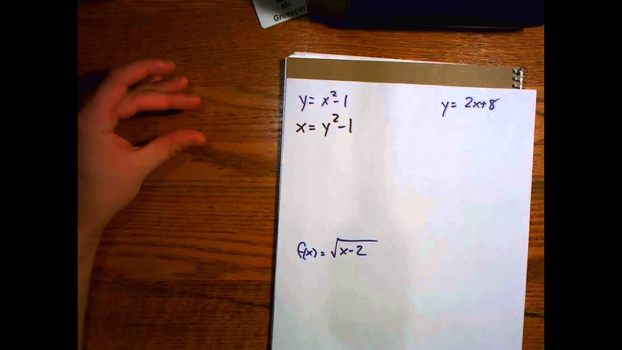 6 7 Inverse Relations And Functions