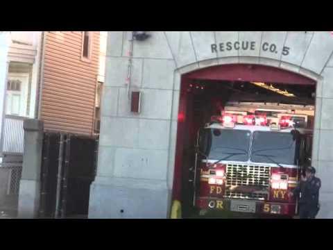 FDNY Staten Island NEW Rescue 5 Responding 12-26-11