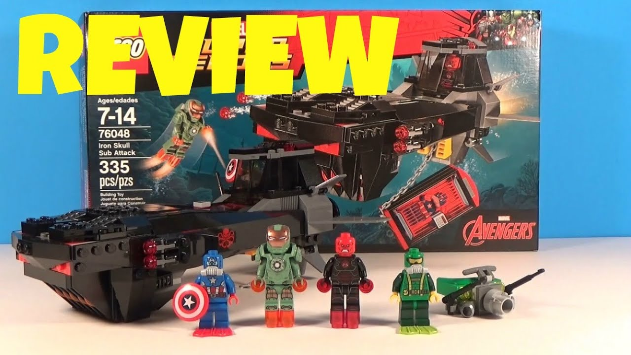 LEGO Avengers Set 76048: Iron Skull Sub Attack - Review ...