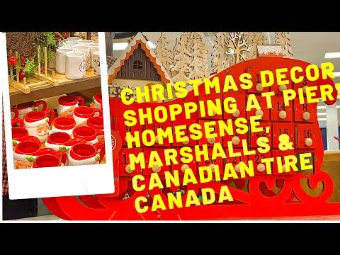 Christmas Decor Shopping- Pier 1, HomeSense, Marshalls & Canadian Tire| Store Walkthrough |Tamil