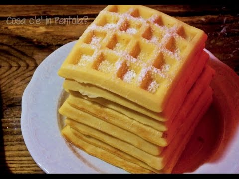 Ricetta Waffle Di Benedetta.Waffles Super Soffici Youtube