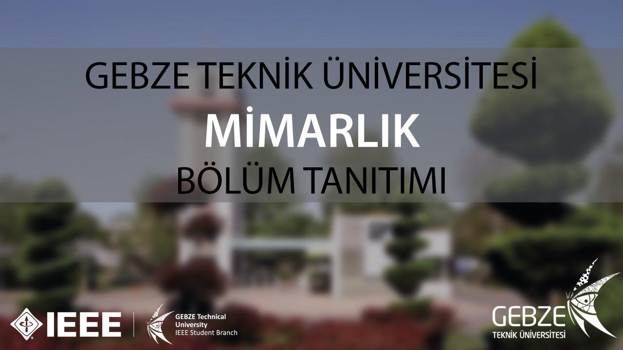 9 SORUDA MİMARLIK | Gebze Teknik Üniversitesi Bölüm Tanıtımları