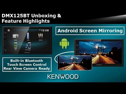 2019 KENWOOD DMX125BT Digital Multimedia Receiver Unboxing & Feature Highlights