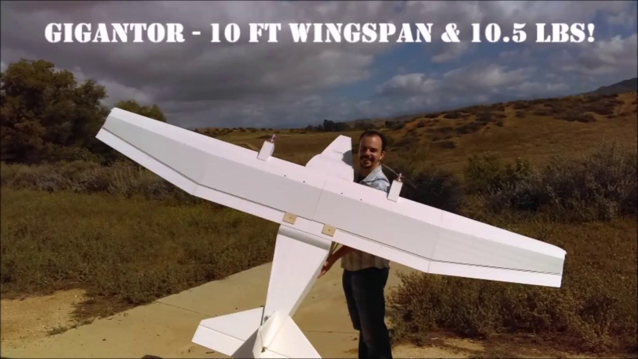 Gigantor - Huge Foamboard RC Plane!