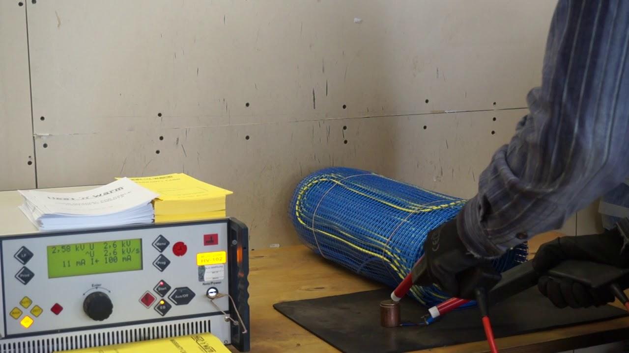 Испытание нагревательного мата Grand Meyer Heat'n'Warm EcoNG150