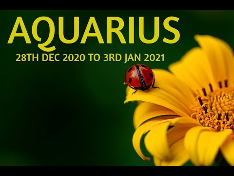 AQUARIUS YOU ARE IN NEED OF SUPPORT | 28TH DEC 2020 TO 3RD JAN 2021