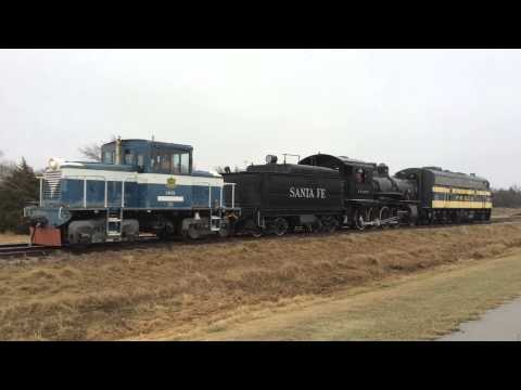 Santa Fe 643 On the Oklahoma Railway Mainline