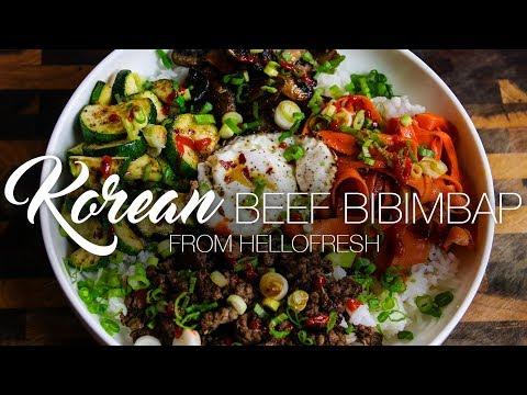 Korean Beef Bibimbap Hellofresh Demo Carnaldish Youtube