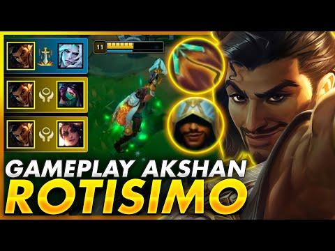 😱¡El GAMEPLAY más BRUTAL y ASQUEROSO del NUEVO CAMPEON AKSHAN! *GAMEPLAY AKSHAN*