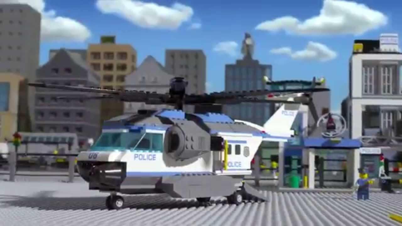 Elicottero Lego City Polizia : Stazione della polizia elicottero di sorveglianza