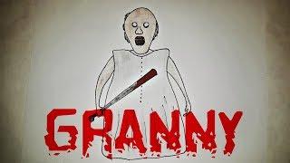 Как нарисовать Бабулю GRANNY? Как рисовать бабку Гренни из игры Granny? Лёгкие рисунки для срисовки